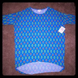 LuLaRoe saved by the bell pattern tee NWT